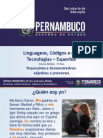 Possessivos e Demonstrativos Adjetivos e Pronomes