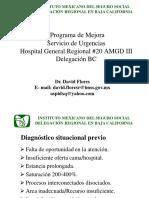 Programa de Mejora Del Servicio de Urgencia Dr David Flores