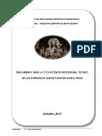 Reglamente de Titulación ISTPP.NSM