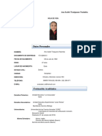 Currículum Vitae Ana Isabel Taxiguano