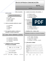 evaluación de entrada comunicación