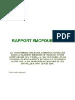 Rapport #Mcpoubelle