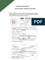 """Evidencia 1 Ejercicio Práctico """"Requisitos Comerciales"""""""