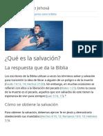 ¿Qué Dice La Biblia Sobre La Salvación?