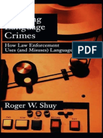 Creating Language Crime