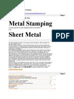 Safety Handbook for Metal Stamping