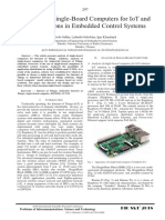 Analysis of Single-Board Computers for IoT and IIoT Solutions in Embedded Control Systems