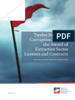 Corruption Risks in the Award of Extractive Sector Licenses and Contracts