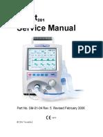 Manual de Servicio ventilador mecánico