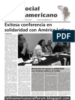 `Foro Social Latinamericano', Green Left Weekly's Spanish-language supplement, November 2010