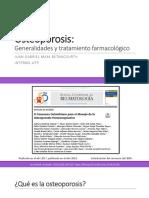 Osteoporosis Generalidades y Tratamiento Farmacológico