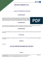 Ley de Contrataciones Del Estado 2016
