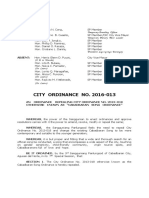 Cabadbaran City Ordinance 2016-13