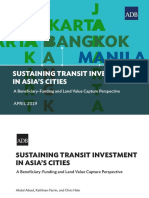 Sustaining Transit Investment Asia Cities