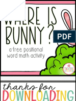 Positional Word Activity Where is Bunny