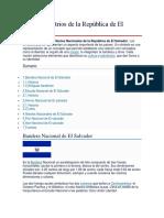 Símbolos Patrios de La República de El Salvador
