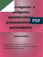 Exposicion de Inmunogenos