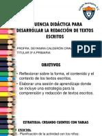 Secuencia Didactica Para Redaccion de Textos Escritos