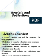 Receipts and Collections