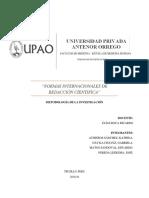 Normas Internacionales de Redacción Cientifica