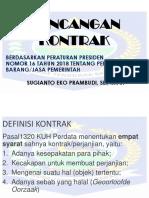 Rancangan Kontrak Sesuai Perpres 16 Tahun 2018