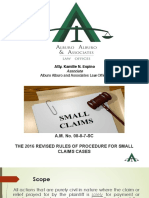 Revised Rules of Procedures for Small Claims Cases