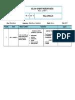 MALLA 9° (Matemáticas y Estadística) - CAC 3P 2019