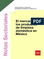 El mercado de productos de limpieza domestica en México- ICEX