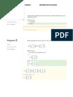 Evaluación Unidad 1 matemáticas aplicada