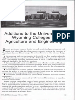 Additions to the University of Wyoming Colleges of Agriculture and Engineering