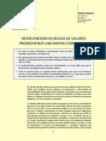 Interconexión de Bolsas de Valores. Promoviendo Una Mayor Competencia