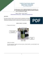 Informe 7. Cromatografia