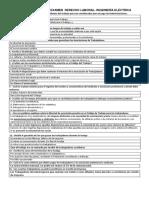 Cuestionario Examen Derecho Laboral P-54 Eléctrica 2