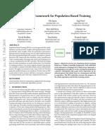 A Generalized Framework for Population Based Training