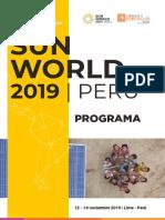 Programa Sun World 2019 Preliminar