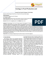 1.1The Role of Biotechnology in Food Production and Processing