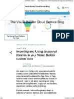 Importing and Using Javascript Libraries in Your Visual Builder Custom Code