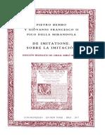 Pietro Bembo y Giovanni Francesco II Pico della Mirandola, De imitatione. Sobre la imitación.pdf