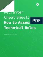 Recruiter Cheat Sheet