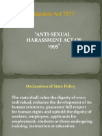 RA 7877 Anti Sexual Harassment Act of 1995