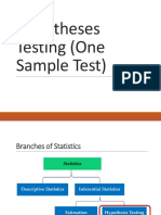 Chapter 8 Hypotheses TestingOne Sample A