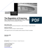 Regulation of E-Learning