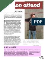 K'eskon attend, Jeunes Talents 2019