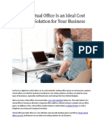 Why Virtual Office Is an Ideal Cost Cutting Solution for Your Business