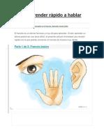 Cómo Aprender Rápido a Hablar Francés