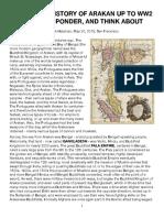 Important History of Arakan