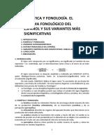 11 Fonética y Fonología. El Sistema Fonológico Del Español y Sus Variantes Más Significativas