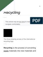 Recycling - Wikipedia182311