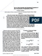 Effects of Molecular Weight on Melt Spinning and Mechanical Properties of High Performance PET Fibers