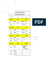 Timetable for Standardised Testing
